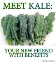 One cup of kale contains 36 calories, 5 grams of fiber, and 15% of the daily requirement of calcium and vitamin B6 (pyridoxine), 40% of magnesium, 180% of vitamin A, 200% of vitamin C, and 1,020% of vitamin K. It is also a good source of minerals copper, potassium, iron, manganese, and phosphorus. Kale also contains indole-3-carbinol, a nutrient that seems to play a role in how estrogen is metabolized in the body. As a supplement, this nutrient has also shown positive lab results in treating breast cancer and in the prevention of estrogen-dominant illnesses like fibroids, fibrocystic breast disease, and endometriosis.